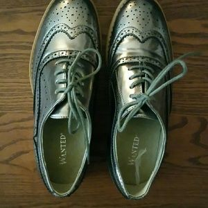 Oxford flats in Silver